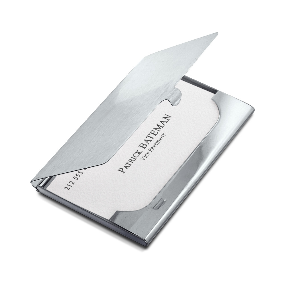 Sterling Silver Business Card Case Detail