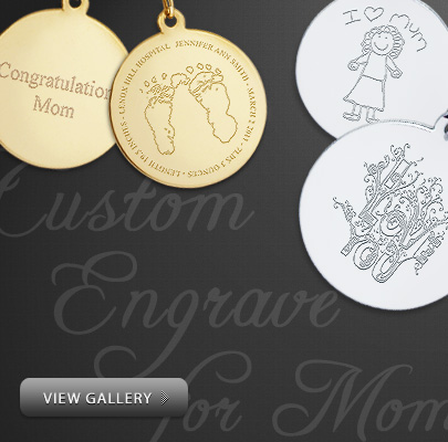 Custom Engraved Mothers Day Necklaces