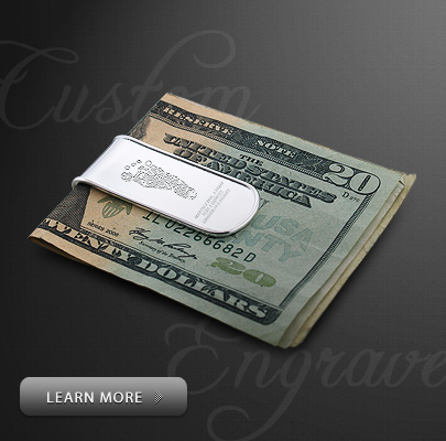 Custom Engraved Money Clip for Father