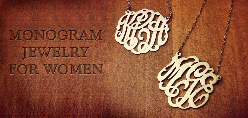 Monogram Jewelry for Women