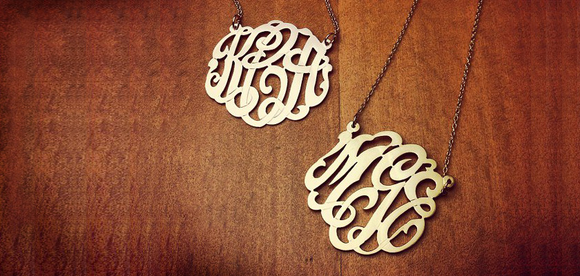 Initial Monogram Necklaces on Sale