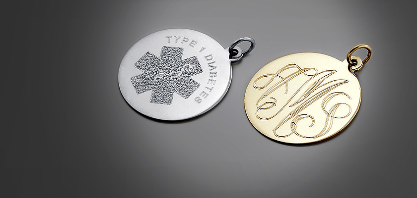 Custom Engraved Disc Pendants for Women