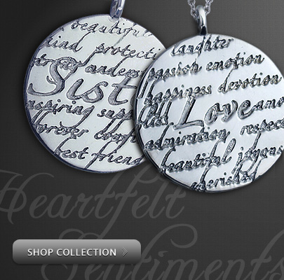 Kay Wicks Engraved Sentiments Necklace Collection