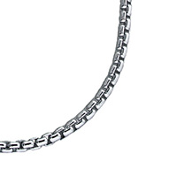 Mens Jewelry - Sterling Silver Box Link Chain