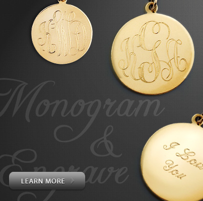 Monogram and Engrave Neckalces