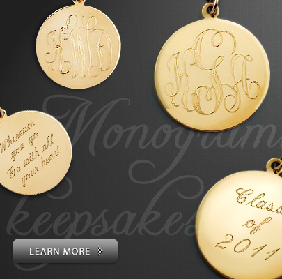 Monogram Graduation Necklaces