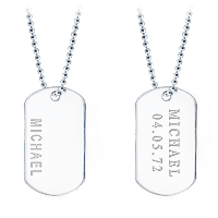 Dog Tag Text Engraving
