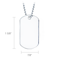 Dog Tag Design and Size