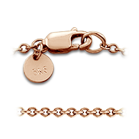 14k Rose Gold Chain and Clasp Detail