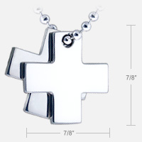 Mens Cross Design and Size