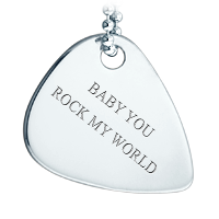 Guitar Pick Necklace Text Engraving