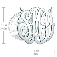 Monogram Disc Necklace Size
