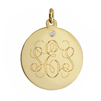 Monogram Disc Engraving