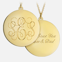 Monogram Necklace Engraving