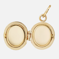 Gold Oval Locket Two-Picture Frame Detail