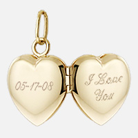 Heart Locket Engraving Detail