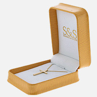Gold Cross Necklace Packaging