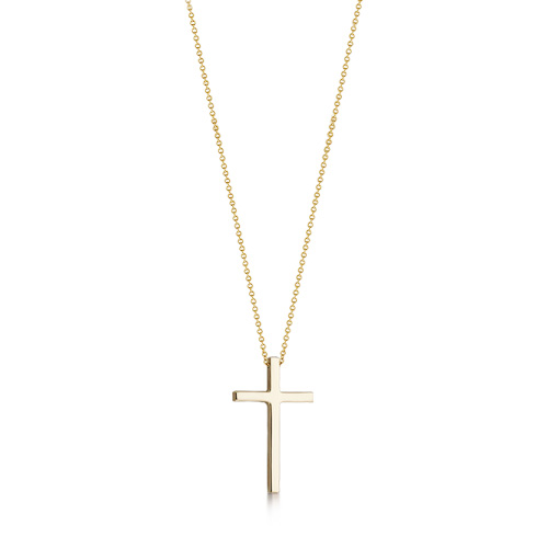 Kay Wicks - 1 inch Solid 14k Gold Cross Necklace