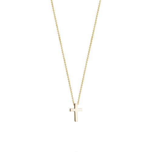 Kay Wicks - 1/2 inch Solid 14k Gold Cross Necklace