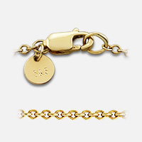 14k gold link chain detail