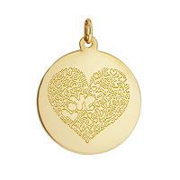 Gold Disc Necklace Custom Engraving