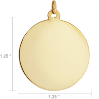 Gold Disc Necklace Design and Size