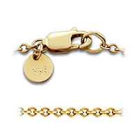 14k gold clasp detail