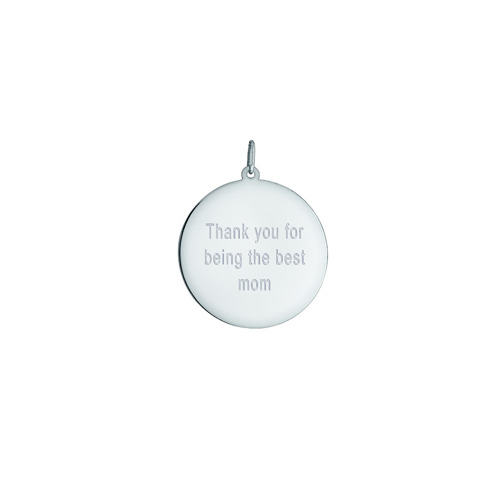 Sterling Silver Baby Footprint Charm Necklace Engraving