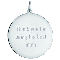 Sterling Silver Disc Necklace Custom Engraving