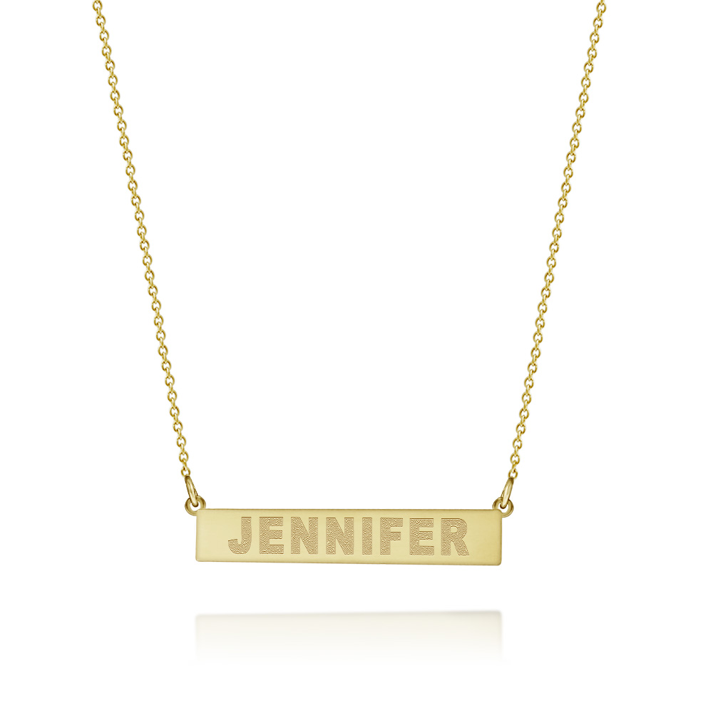 Nameplate Necklace Zoom View