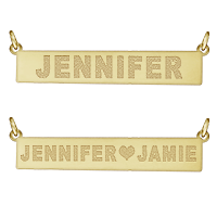 Nameplate Necklace Name Engraving View