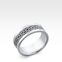 Men's Sterling Silver Celtic-Braid Ring