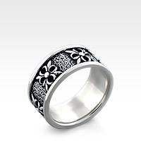 Men's Silver Gothic Nordic Crest Ring