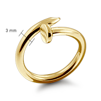 14k Gold Nail Ring Size Detail