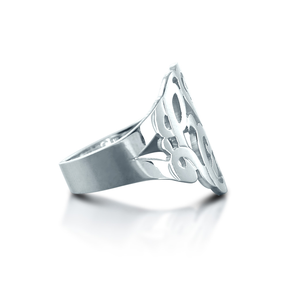 Monogram Ring Zoom View