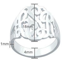 Monogram Ring Size Detail