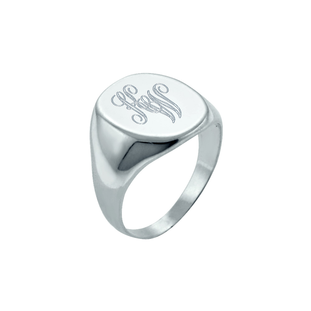 Monogram Signet Ring Engraving Detail