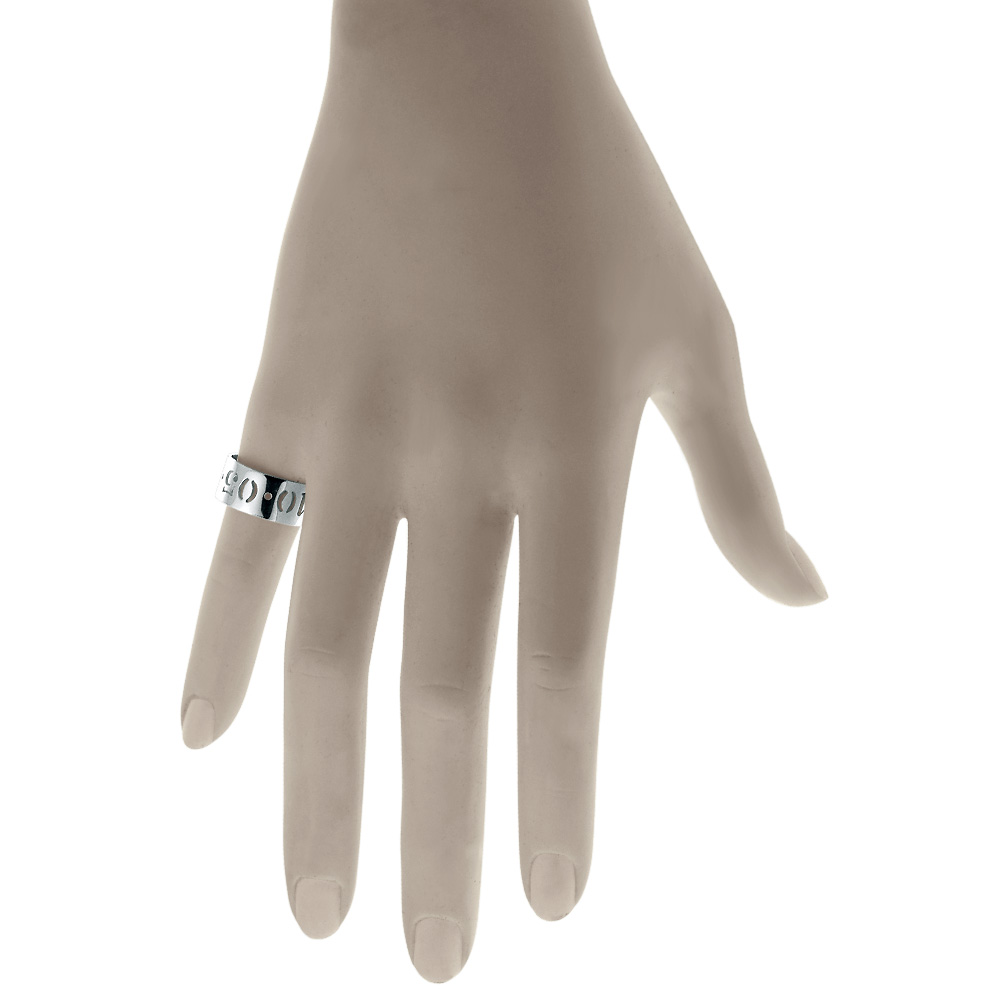 Cut Out Date Anniversary Ring Zoom View