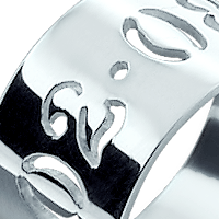 Cut Out Date Ring Engraving
