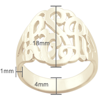 Monogram Initial Ring Size