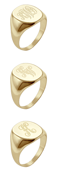 Monogram Signet Ring Engraving