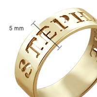 Cut Out Date Ring Size