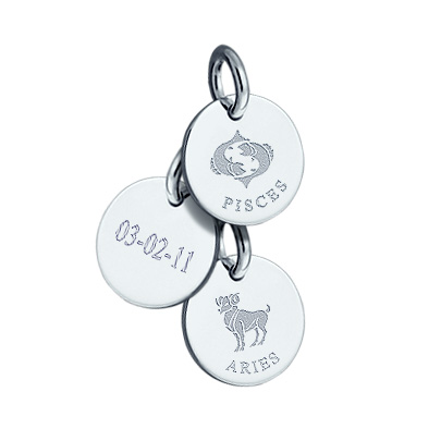 Engravable Sterling Silver Zodiac Charms