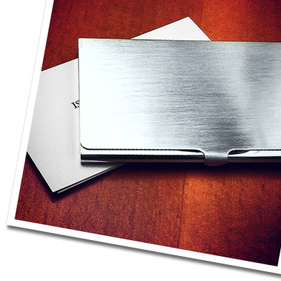 Engraved Sterling Silver Business Card Case