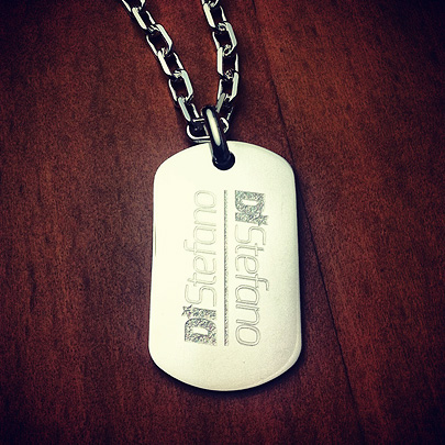 Custom Engraved Mens Dog Tag for DJ