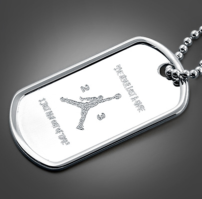 Custom Engraved Dog Tag Necklace