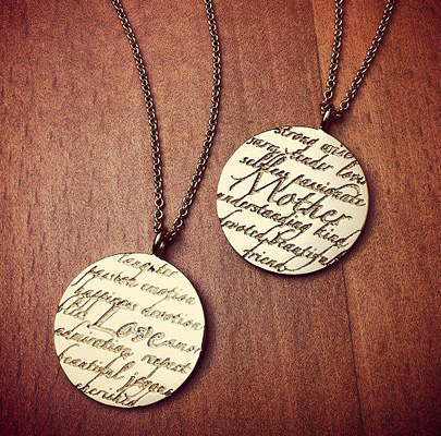 Kay Wicks 14k Gold Mother and Love Sentiments Necklaces