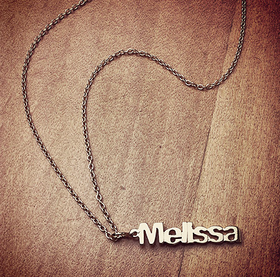 Single Name Charm Necklace