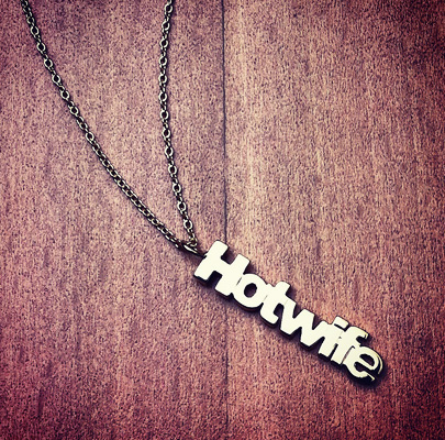 14k Gold Hotwife Name Charm Necklace