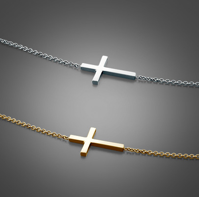 Kay Wicks Sideways Cross Neckalces